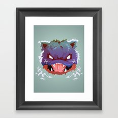 Raging Blastoise Framed Art Print