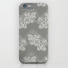 White on Grey Lace iPhone 6s Slim Case