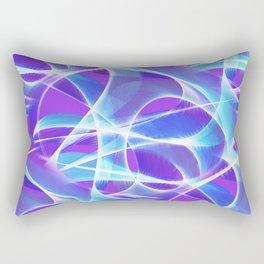 Waves Pattern on Pink Rectangular Pillow