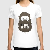 gold T-shirts featuring Beard Season by Chase Kunz