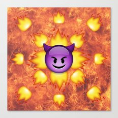 Devil Emoji Canvas Print