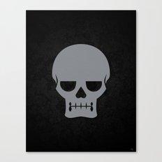 Gray Skull Canvas Print