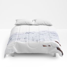 Cabin in the Snow (Color) Comforters