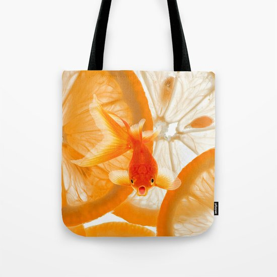 Orange Fish Tote Bag