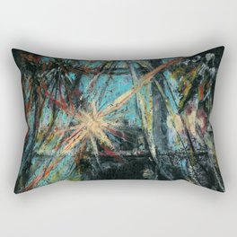 View from my window early in the morning. Abstract oil pastel background Rectangular Pillow