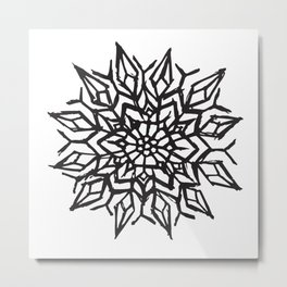 Cosmic Flower Metal Print