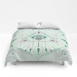 Evil Eye Mandala – Mint Comforters