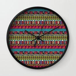 Mexican Colors 4 Wall Clock
