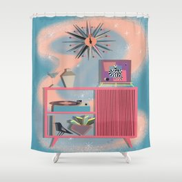A Night In Shower Curtain