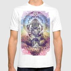 Buddha  Mens Fitted Tee MEDIUM White