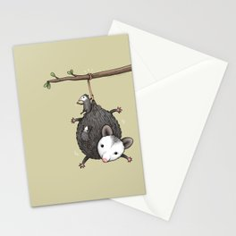 Opossum Family Stationery Cards