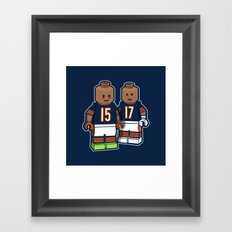 Bears Bricked: Brandon Marshall & Alshon Jeffery Framed Art Print