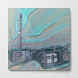 Masts, dishes and wires Metal Print