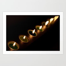 heart candles Art Print