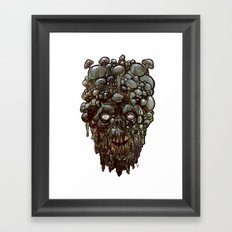 Heads of the Living Dead Zombies: Mushroom Head Zombie Framed Art Print