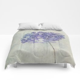 Beautiful Blue Hydrangea Comforters