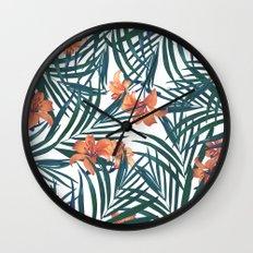 Tropical Lilies Wall Clock