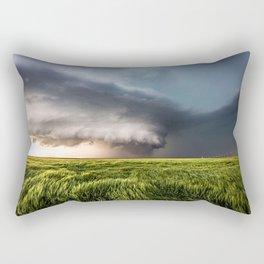 Leoti's Masterpiece - Incredible Storm in Western Kansas Rectangular Pillow