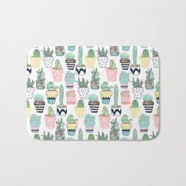 Cute Cacti in Pots Bath Mat