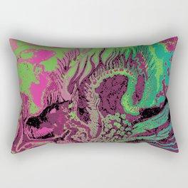 greenpink dragon Rectangular Pillow