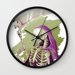 Purple Death Wall Clock