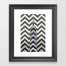 Chevron Empire Framed Art Print
