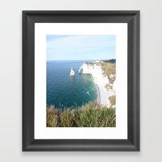 Cliffs at Etretat Framed Art Print