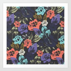 Midnight Garden Pop Art Print