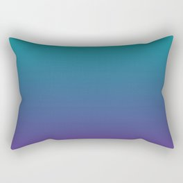 Ombre | Teal and Purple Rectangular Pillow