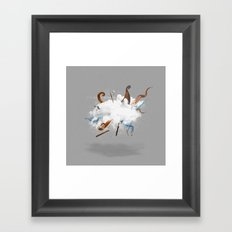 Dust-Ups: Viking vs Kraken Framed Art Print