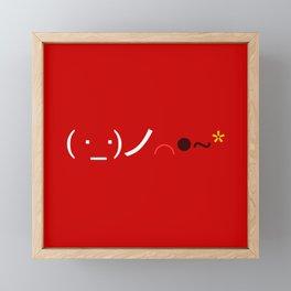 ( ・_・)ノ⌒●~* Bomb! Framed Mini Art Print