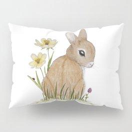 Rabbit Among the Flowers Pillow Sham
