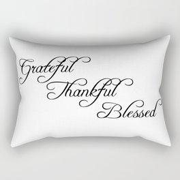 grateful thankful blessed Rectangular Pillow