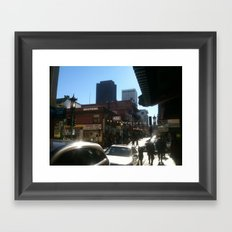 moment in time chinatown Framed Art Print
