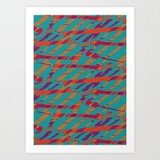 TORN STRIPES Art Print