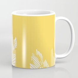 Banana Leaves on Yellow #society6 #decor #buyart Coffee Mug