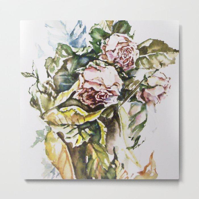 Rosal pastels Metal Print