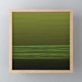 Horizon (olive green) Framed Mini Art Print