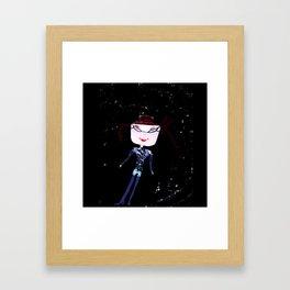 SPACE GIRL Kids Framed Art Print