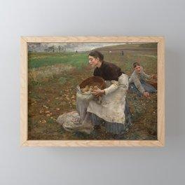 Jules Bastien Lepage - October, 1878 Framed Mini Art Print