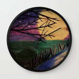 Moon reflection Wall Clock