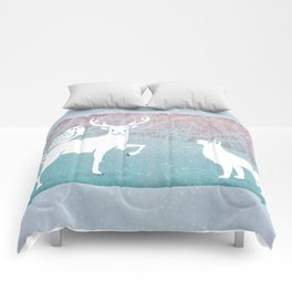 Winter In The White Woods Comforters