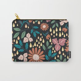 Floral Clusters Carry-All Pouch