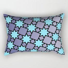 Eight Point Stars Rectangular Pillow