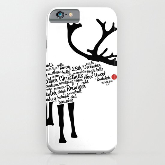 Rudolph Typography iPhone & iPod Case