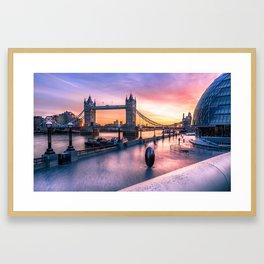 Tower Bridge sunrise Framed Art Print