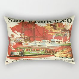 Vintage poster - San Francisco Rectangular Pillow
