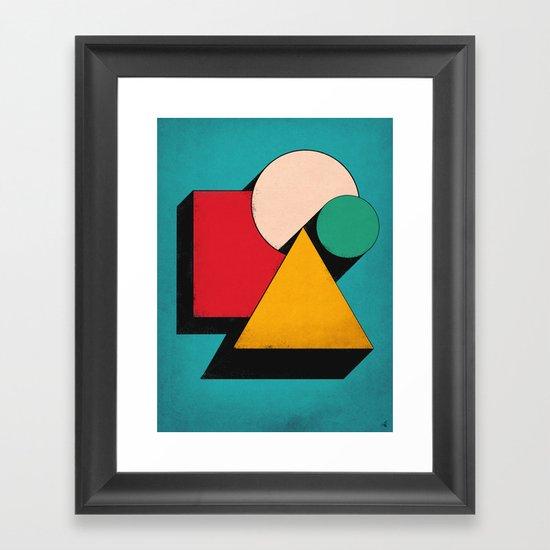 Shapeville Framed Art Print