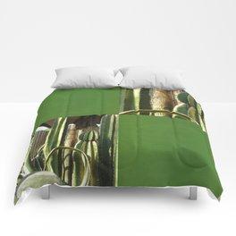 Cactus Garden Blank Q5F0 Comforters