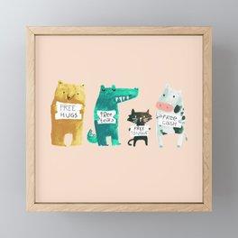 Animal idioms - its a free world Framed Mini Art Print